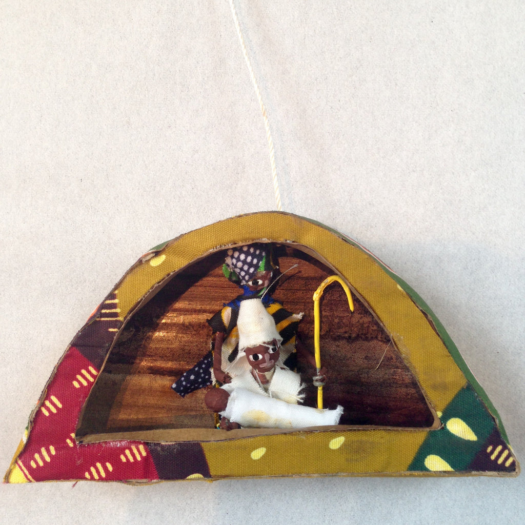 Kitenge Fabric Arch Nativity Ornament