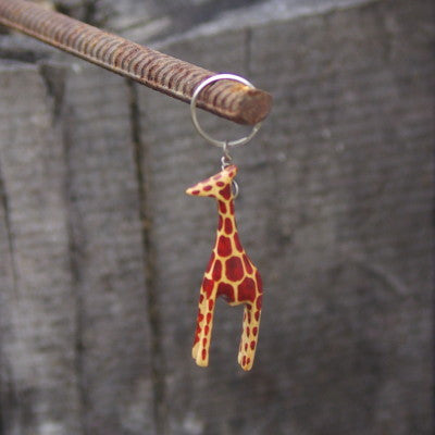 Wood Animal Keychain