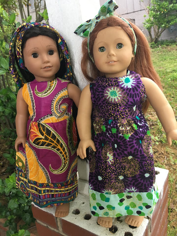 Doll Dress & Head Wrap Set