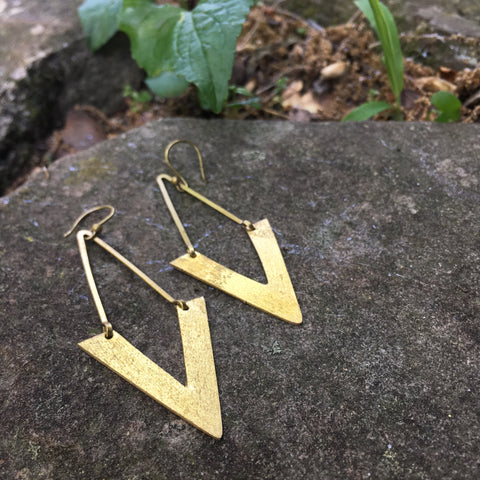 Fela Brass Earrings