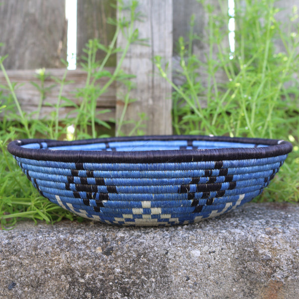 Blue African Basket 2