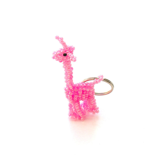 Glass Bead Animal Keychain
