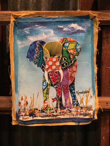 Bright Kitenge Elephant, Small