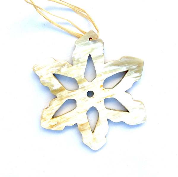 Cow Horn Snowflake Ornament