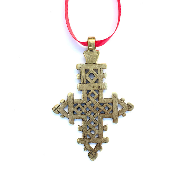 Ethiopian Coptic Cross Ornament