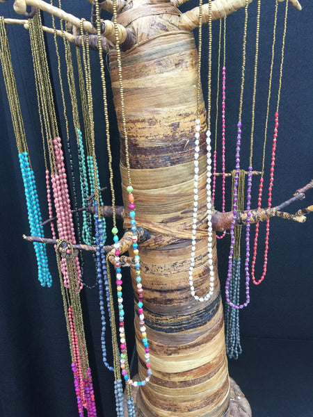 Maasai Single Strand Recycled Paper Bead Necklace