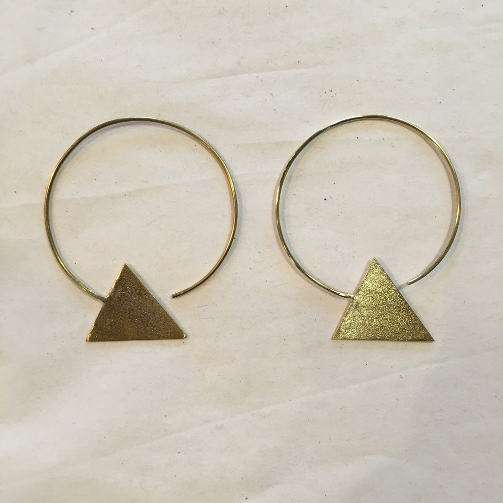 Azizi Brass Earrings