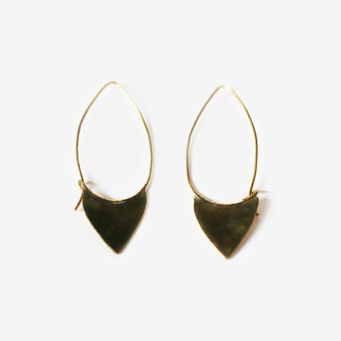 Ikeno Brass Earrings