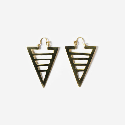 Jama Brass Earrings