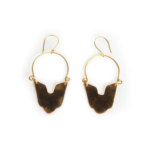 Fair Trade Kumani Brass Earrings Africa