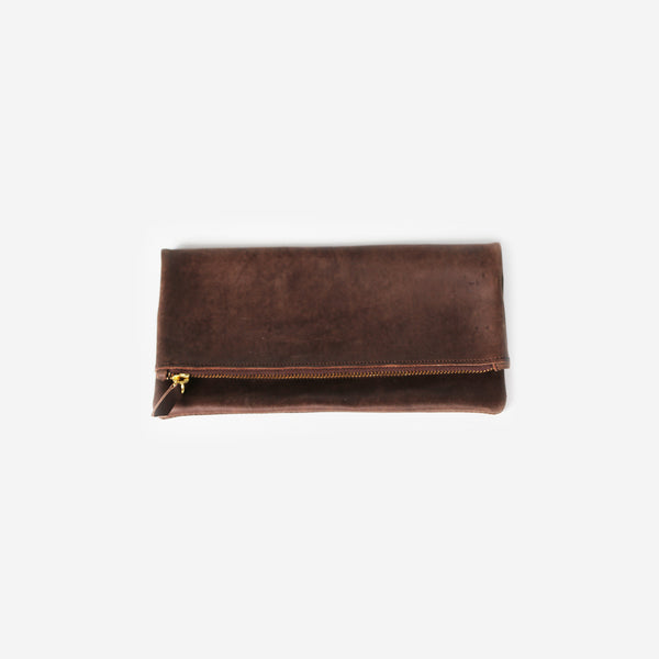 Nubuck Leather Clutch