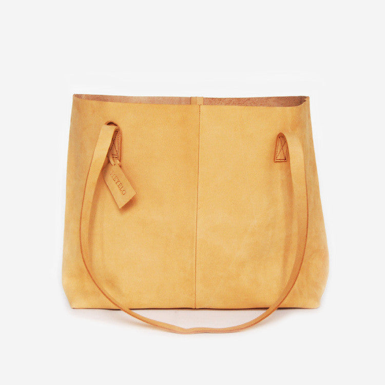 Nubuck Leather Wide Tote