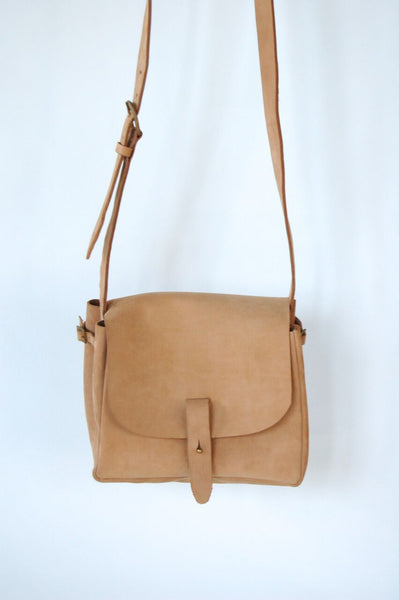 Nubuck Leather Bucket Purse