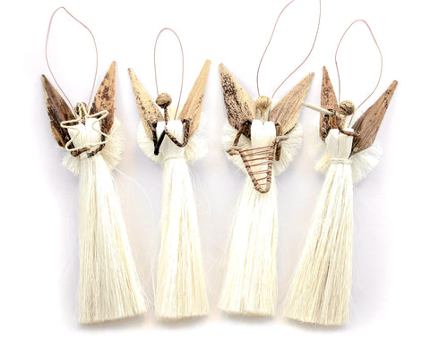 Banana Fiber Angel Ornament