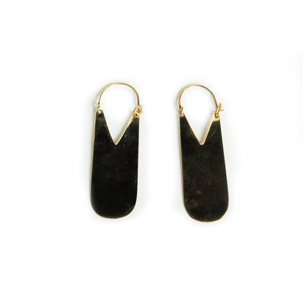 Fair Trade Oba Brass Earrings