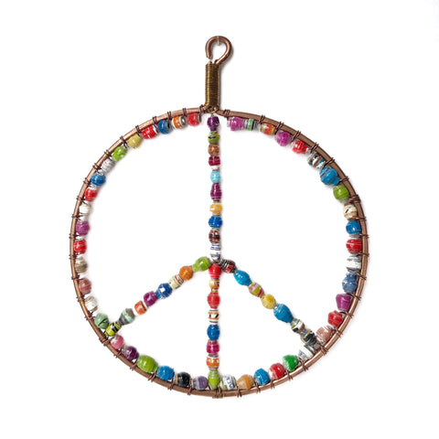 Paper Bead Peace Sign Ornament