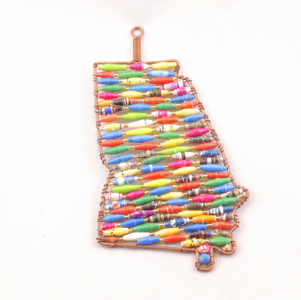 Paper Bead Ornament - States