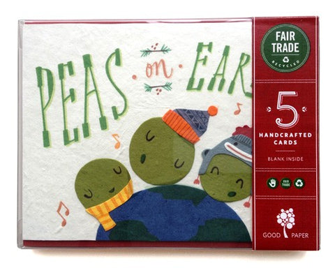 Peas on Earth Holiday Cards 5-Pack Boxed Set