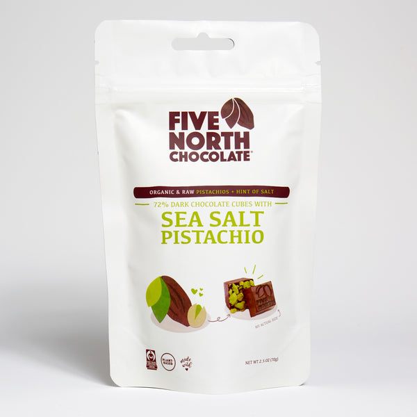 Dark Chocolate with Organic Pistachios & Sea Salt