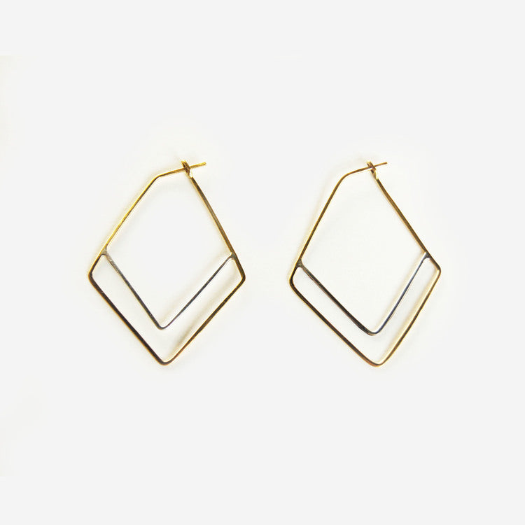 Silka Brass Earrings