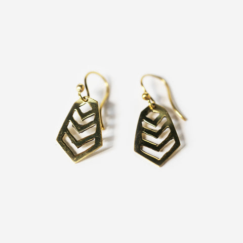 Tambo Brass Earrings