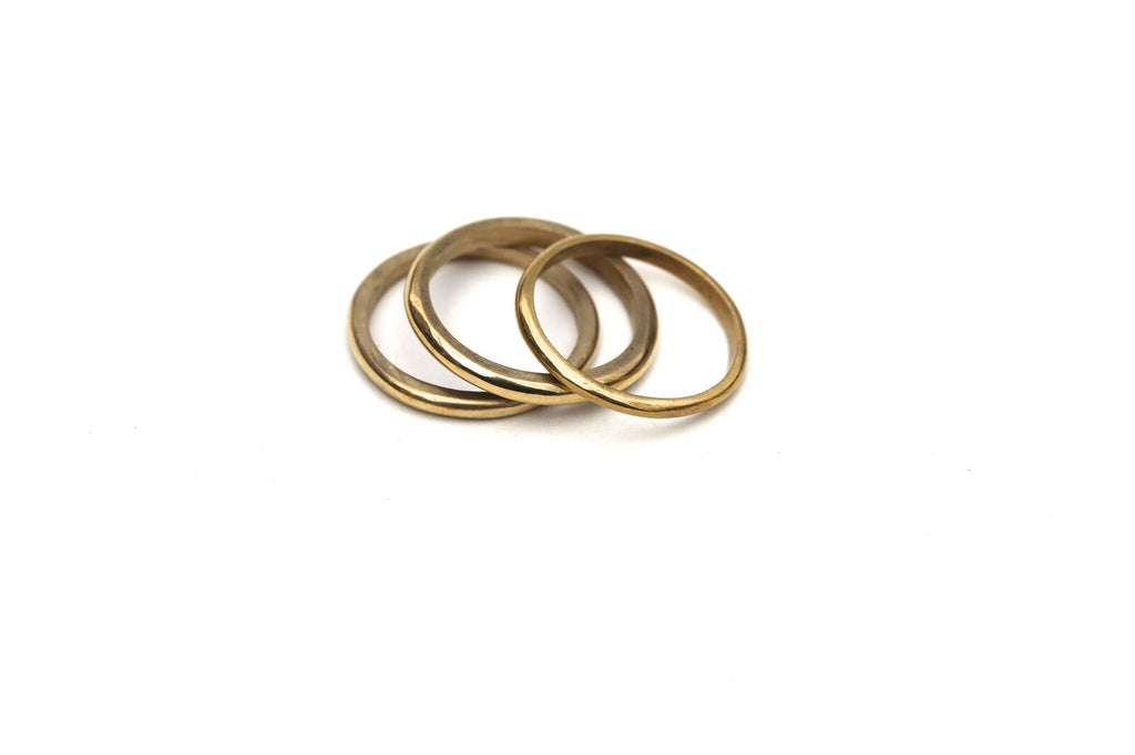 Unga Brass Stacking Ring
