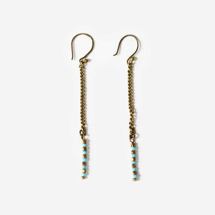 Vero Brass Dangle Earrings