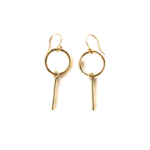 Zola Brass Earrings