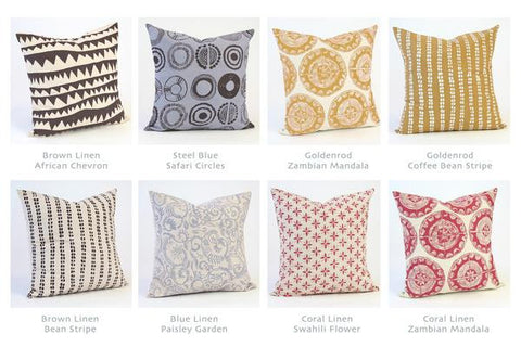 Hand Printed Pillow Sham