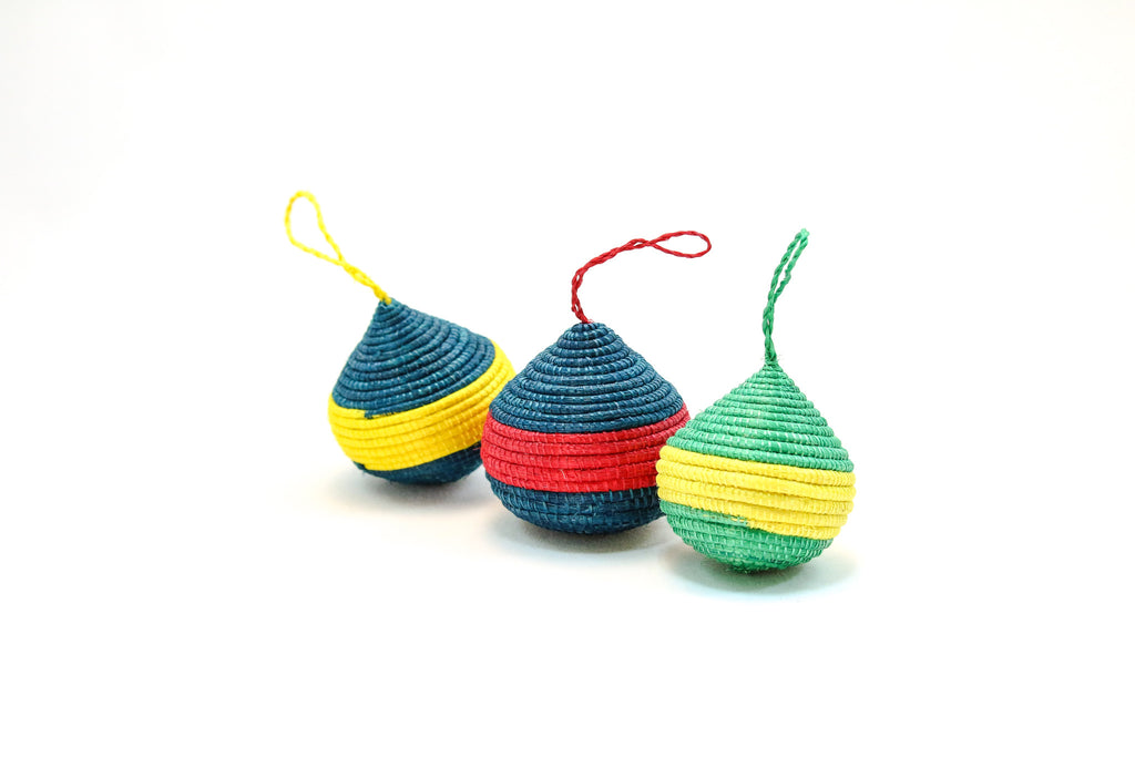 Rwandan Woven Ball Ornament