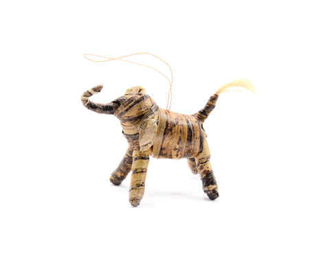 Banana Fiber Animal Ornament