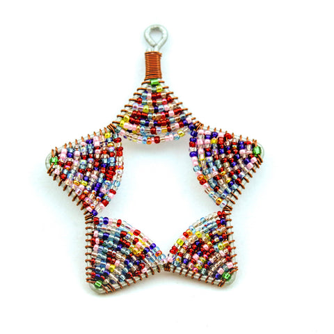Glass Bead Star Ornament