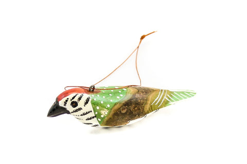 African Wood Bird Ornament