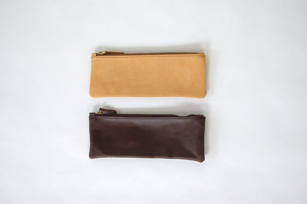 Nubuck Leather Pencil Pouch