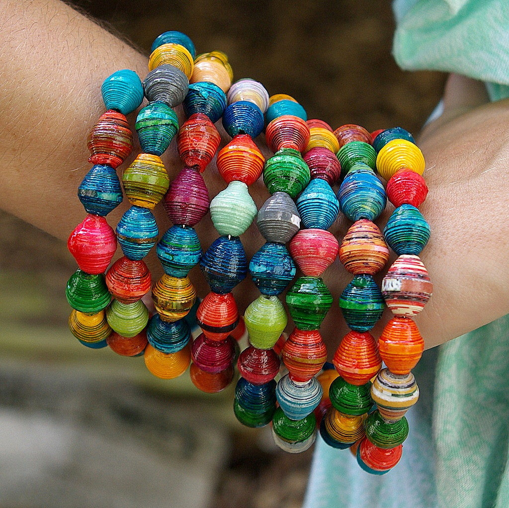 KANZI Recycled Paper Bead Bangle