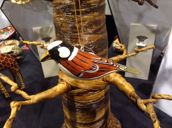 Wood Bird Ornament, North America