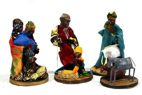 African Figurine Nativity