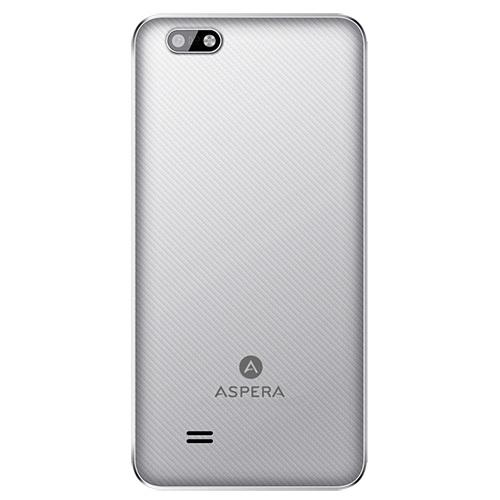 Aspera Jazz White/Silver - Back View