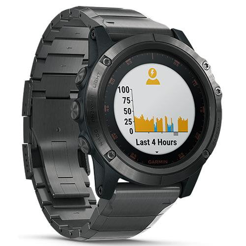 Garmin Fenix 5 Plus DLC Grey Case with Titanium Band (Sapphire Edition) Grey - Front View