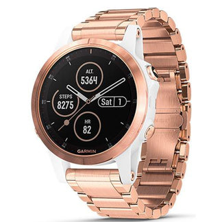 Garmin Fenix 5S Plus Rose Gold Case with Metal Band (Sapphire Edition)