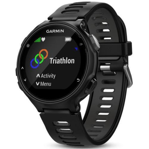 Garmin Forerunner 735XT Advanced GPS multisport watch Black - Front View