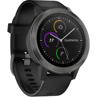 Garmin Vivoactive 3 Slate Stainless Steel Case (with Silicon Band)