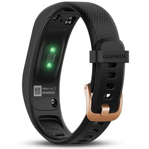 Garmin Vivosmart 3 (Regular) Black/Rose Gold - Back View