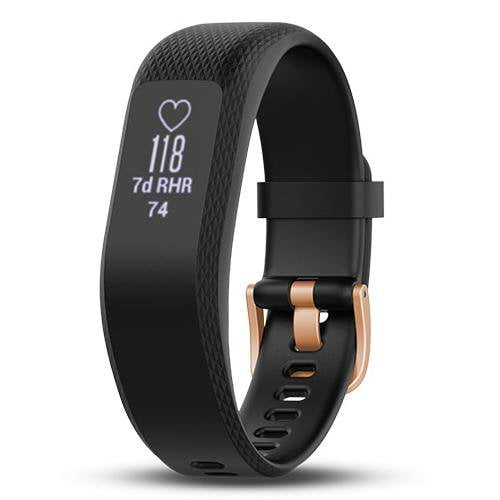 Garmin Vivosmart 3 (Regular) Black/Rose Gold - Front View