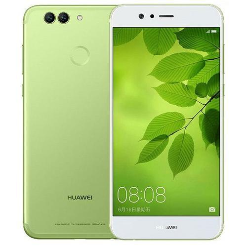 Huawei Nova 2 Plus Green - Front Back View