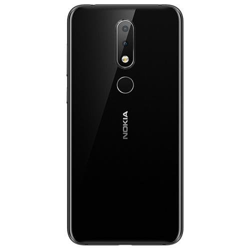 Nokia X6 (Totoro) Black - Back View