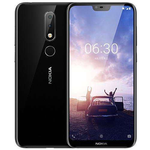 Nokia X6 (Totoro 6GB RAM) Black - Front Back View