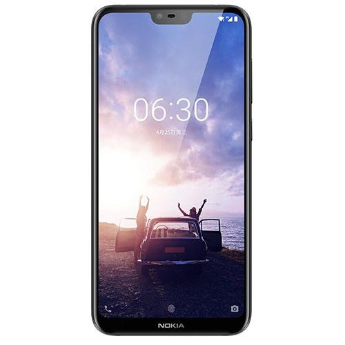 Nokia X6 (Totoro 6GB RAM) Black - Front View