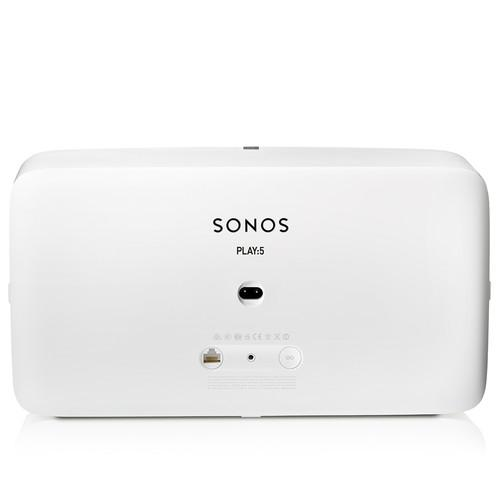 SONOS PLAY:5 Wireless Speaker for Streaming Music White - Back View