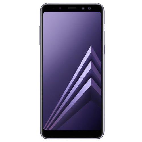 Samsung Galaxy A8 (2018) Orchid Grey - Front View